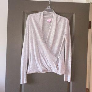 EUC light weight gray wrap Lilly Pulitzer sweater
